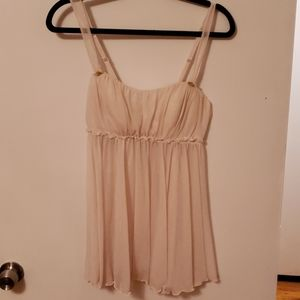 Ivory and Gold Victoria Secret L Babydoll